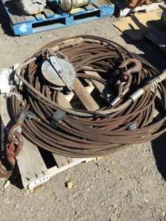 Pallet of Steel Cables, Hooks And Eyes, Cable Shiv