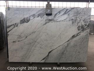 (8) White Arabescato 3cm (Block 54496)