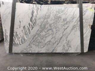 (8) Calacatta Italia Leather 3cm (Block HX003)