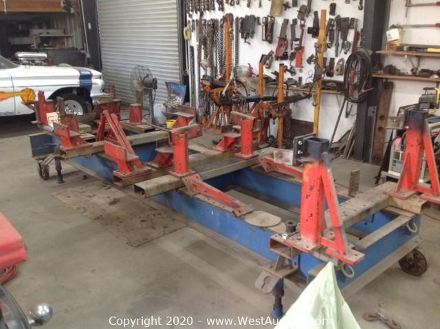 Celette Bench and Dedicated Fixtures for 1953 to 1982 Corvette Frame Repairs