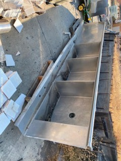 Stainless Steel 3 Basin Sink