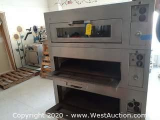 Commercial Triple Deck Electric Pizza Oven