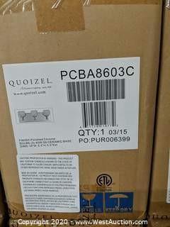 (25) Quoizel PCBA8603C Polished Chrome 3-Light Bathroom Fixture