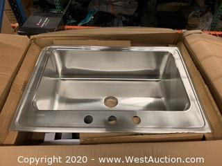 "Elkay DLRS332210PD3 33"" Stainless Steel Single Basin Kitchen Sink"