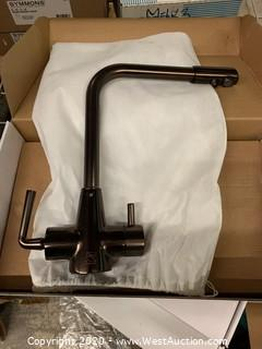 Signature Hardware 30AB3789-ORB Oil Rubbed Bronze Double Handle Kitchen Faucet