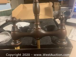 Danze D404557BR Tumbled Bronze Two Handle Bridge Faucet