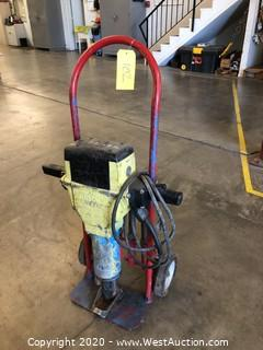 Bosch Electric Jackhammer on Customized Handtruck