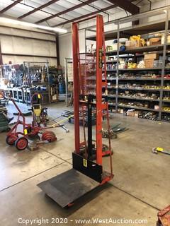 Wesco Foot Pedal Platform Lift Truck