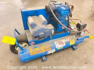 Emglo/Jenny 1.5-HP 8-Gal Electric Dual Voltage Wheelbarrow Air Compressor