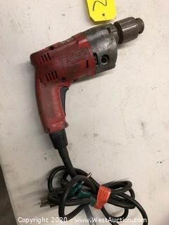 "Milwaukee Corded Electric Drill (3/8"")"