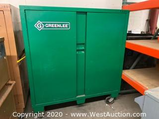 "Portable Greenlee 2-Door Storage Cabinet 24""x60""x68"""