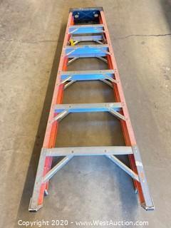 Green Bull 6ft Fiberglass Folding Ladder