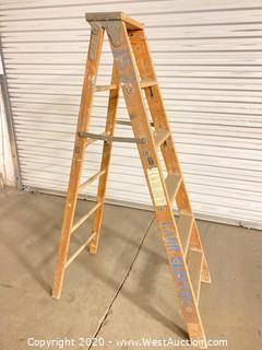 Wooden Folding Ladder - 6ft
