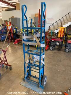 6' Tall Heavy Duty Appliance Dolly with Ratchet Strap
