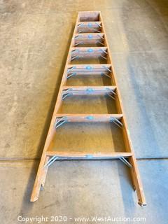 8ft Wooden Folding Ladder
