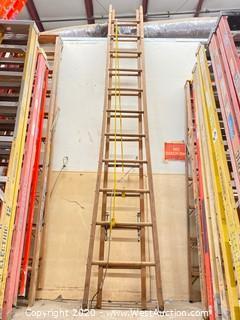 22ft Wooden Extension Ladder