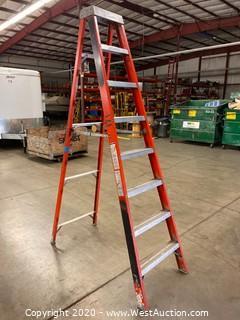 Louisville FS1008 8ft Fiberglass Folding Ladder