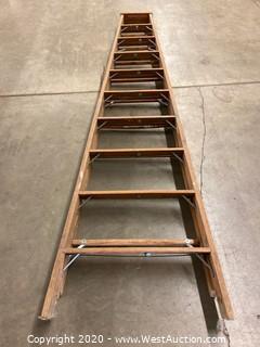 Louisville 10ft Wooden Folding Ladder