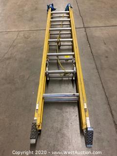 Safety First 14ft Fiberglass Extension Ladder