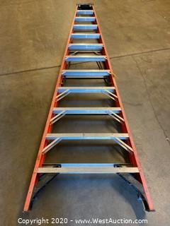 Werner 12ft Fiberglass Folding Ladder
