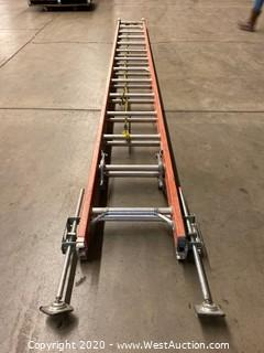 Louisville CFG1128 28ft Extension Fiberglass Ladder with Adjustable Offsets