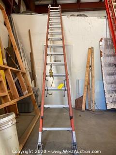 Louisville FE2228 28ft Extension Ladder - Fiberglass