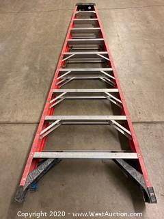 Werner 7310 10ft Fiberglass Folding Ladder - Yellow
