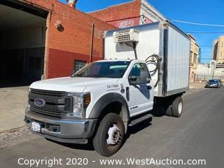 2019 Ford F450 XL Diesel Refrigerated Box Truck