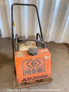 """MBW AP2000 Asphalt Plate Compactor 20"""" x 22"""""""