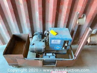 Miller Electric Roughneck 2E Constant Current AC ARC Welding Generator on Fabricated Steel Cart