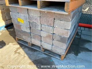 "(1) Pallet Of Stone Pavers 12"" x 8"" x 4"""