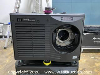 Christie Roadster HD18k Projector With Spare Lamp