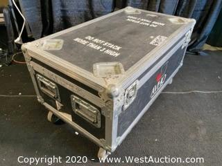 "(1) Black Rolling Road Case 34""x20""x19"""