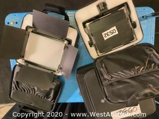 (4) Neewer NL660 Bi-Color LED