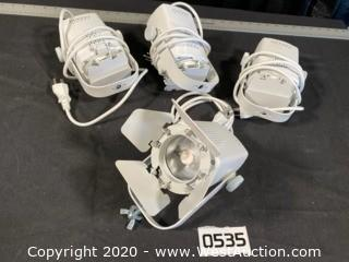 (4) Chauvet Eve TF20 White LED With Track Adapter
