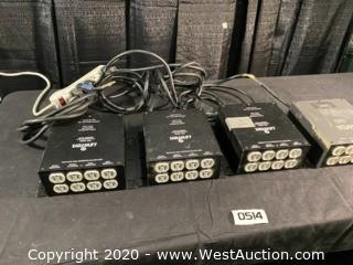 (4) NSI Leviton Tree Dimmer Pack MPX