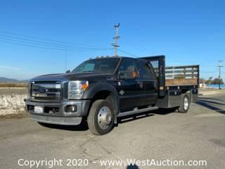 2012 Ford F-550 XL Diesel Flatbed Truck