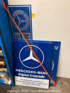 (5) Mercedes Official Parts & Service Signs