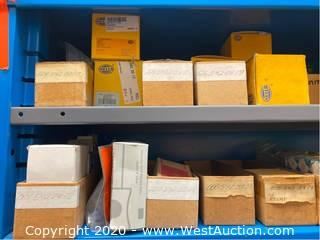 Contents of (1) Rack Of Assorted; Fuel Pump Relays, Fuel Pumps, Assorted Switches
