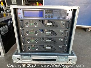 (4) Bi-amped Monitor Mixes In Road Case. 6000watt.