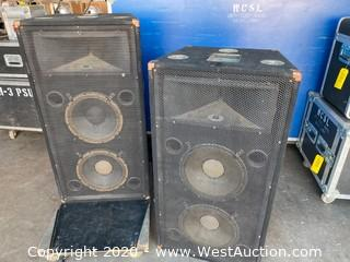 (2) McCauley SA212 Speakers With Fly Points