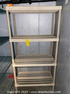 "Plastic Shelf Rack 18""x36""x72"""