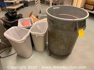 (4) Trash Bins