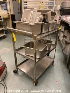 Stainless Steel Cart With Contents