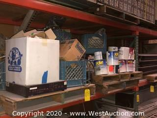 (2) Pallets: Assorted Paint & Wiring