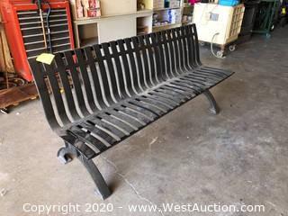 6' Steel Park Bench