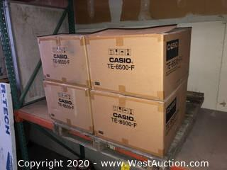 (4) Casio TE-8500-F Electronic Cash Registers