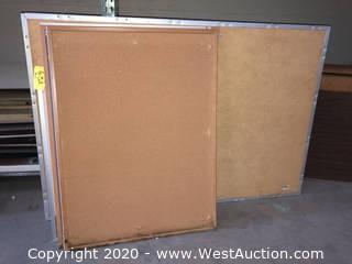 (6) Assorted Size Wall-Mount Cork Bulletin Boards