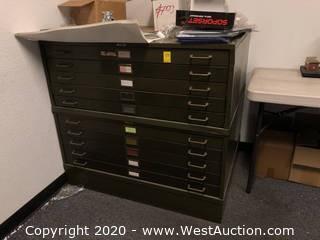 Lyon 10-Drawer Map Flat File Cabinet
