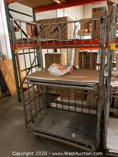 6' Metal Stock Cart